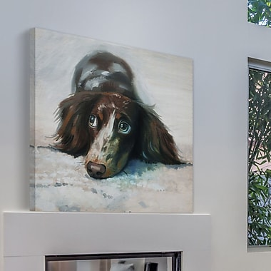 Red Barrel Studio 'Soulful Eyes' Painting Print on Wrapped Canvas; 48'' H x 48'' W x 1.5'' D