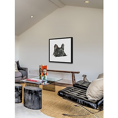 Red Barrel Studio 'Sneaky Frenchie' Framed Painting Print; 32'' H x 32'' W x 1.5'' D