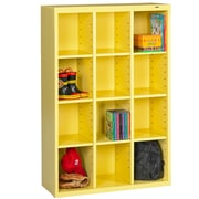 Tennsco Storage Unit Bin 12 Compartment Cubby ; Safety Yellow