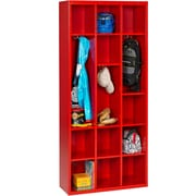 Tennsco Storage Unit Bin 18 Compartment Cubby; Crimson