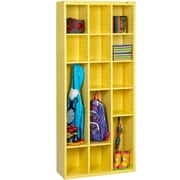 Tennsco Storage Unit Bin 18 Compartment Cubby; Safety Yellow