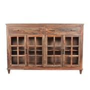 Union Rustic Koch 2 Drawer Accent Cabinet; Natural