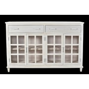 Union Rustic Koch 2 Drawer Accent Cabinet; White Distress
