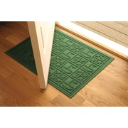 Bungalow Flooring Aqua Shield Light Green Nautical Mat