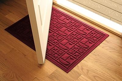 Bungalow Flooring Aqua Shield Red Nautical Mat