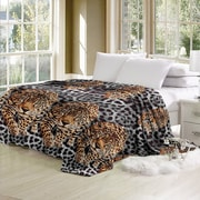 World Menagerie Capucine Luxurious Oversized Printed Super Soft Plush Flannel Throw