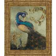World Menagerie 'Peacock on Sage II' Framed Painting Print