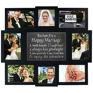 Winston Porter Happy Marriage Recipe Picture Frame