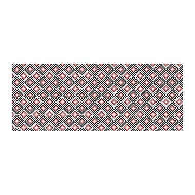 East Urban Home Nandita Singh Bright Squares Pattern Bed Runner; Coral/Black