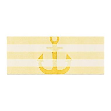East Urban Home Monika Strigel Stone Vintage Anchor Bed Runner; Yellow/Mustard White