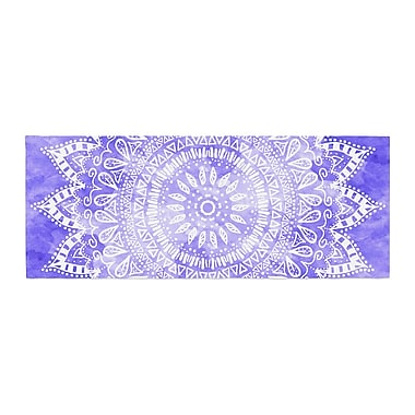 East Urban Home Nika Martinez Boho Flower Mandala Bed Runner; Purple/Lavender