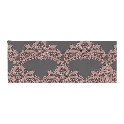East Urban Home Nandita Singh Decorative Motif Floral Bed Runner; Pink/Bronze
