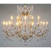 Astoria Grand Alvarado Trimmed 16-Light Crystal Chandelier; Gold