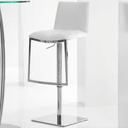 Brayden Studio Jaycee Adjustable Height Swivel Bar Stool; White