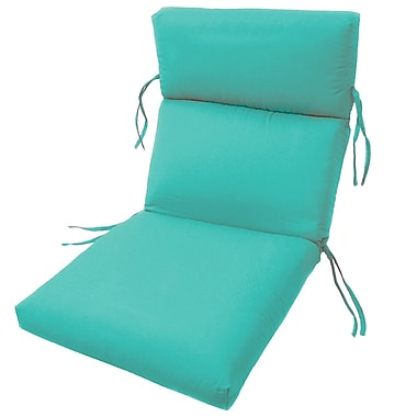 Charlton Home Channeled Outdoor Sunbrella Lounge Cushion; Aruba