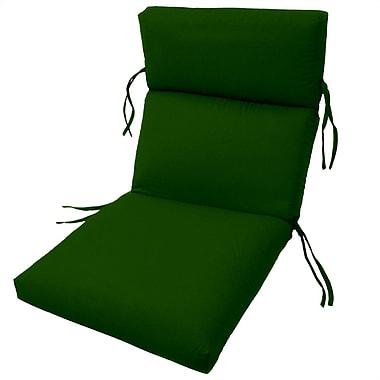 Charlton Home Channeled Outdoor Sunbrella Lounge Cushion; Palm