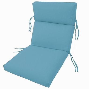 Charlton Home Channeled Outdoor Sunbrella Lounge Cushion; Sky Blue