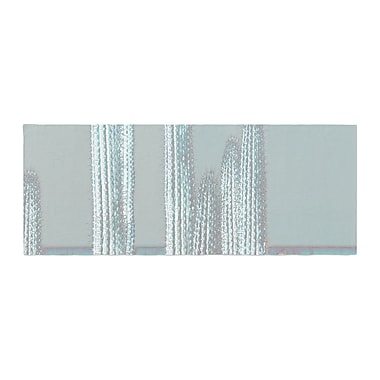 East Urban Home Suzanne Carter Cactus Digital Bed Runner; Blue/Gray
