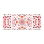 East Urban Home Danii Pollehn Scandanavian Square Bed Runner; Red