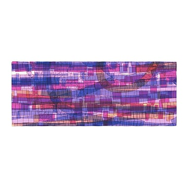 East Urban Home Frederic Levy-Hadida Squares Traffic Bed Runner; Pink