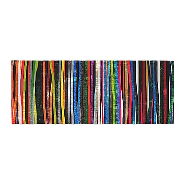 East Urban Home Frederic Levy-Hadida Fancy Stripes Bed Runner; Black