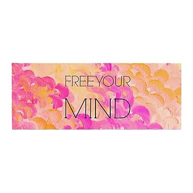 East Urban Home Ebi Emporium Free Your Mind Bed Runner; Pink/Orange