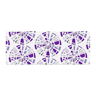 East Urban Home Patternmuse Precious Illustration Bed Runner; Amethyst