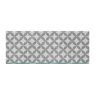 East Urban Home Nick Atkinson Diamond Bed Runner; Turquoise