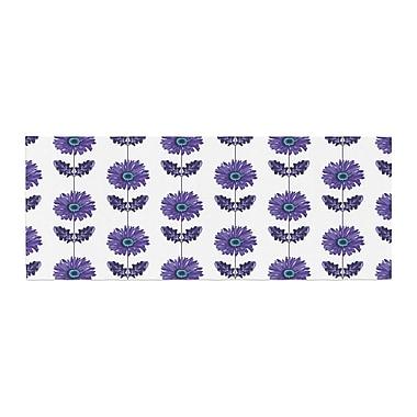 East Urban Home Laura Escalante Gerbera Flower Bed Runner; Purple