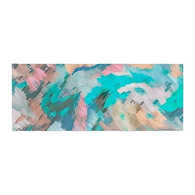 East Urban Home Alison Coxon Giverny Abstract Pattern Bed Runner; Blue