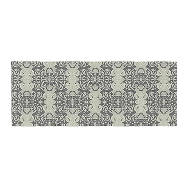East Urban Home Mydeas Illusion Damask Monochrome Bed Runner; Silver/Gray