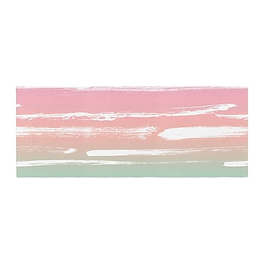 East Urban Home Anneline Sophia Painted Stripes Bed Runner; Pink/Green
