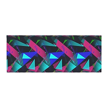East Urban Home Alison Coxon Confetti Triangles Bed Runner; Magenta/Blue