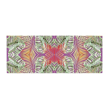 East Urban Home Alison Coxon Summer Jungle Love Bed Runner; Purple/Green