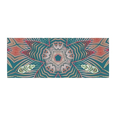 East Urban Home Alison Coxon Kintenge Deep Bed Runner; Teal/Coral