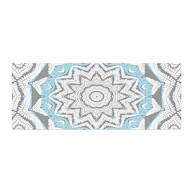 East Urban Home Alison Coxon Plant House Mandala Digital Bed Runner; Blue /Beige