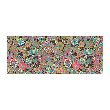 East Urban Home Julia Grifol My Butterflies and Flowers Floral Bed Runner; Brown