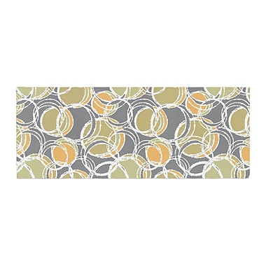East Urban Home Julia Grifol Simple Circles Bed Runner; Gray