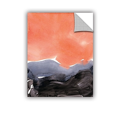 Ebern Designs Arsdale Graphite Wall Decal; 18'' H x 14'' W x 0.1'' D
