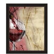 Fleur De Lis Living 'Artistic Pouring Red Wine' Framed Painting Print; 23'' H x 19'' W x 1'' D