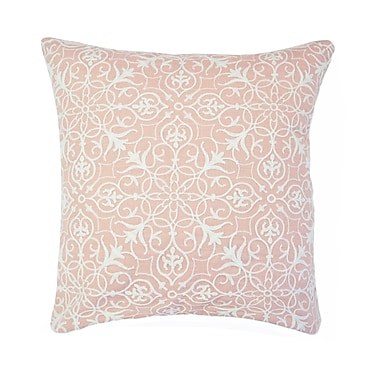 Highland Dunes Nelia Embroidered Throw Pillow (Set of 2); Blush