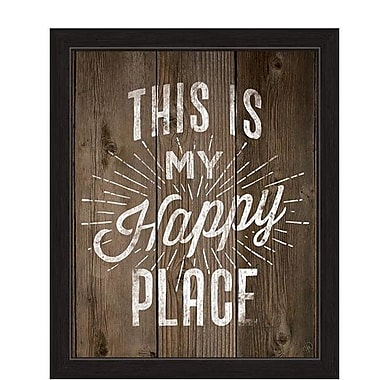 Loon Peak 'This Is My Happy Place' Framed Textual Art; 13'' H x 11'' W x 1'' D