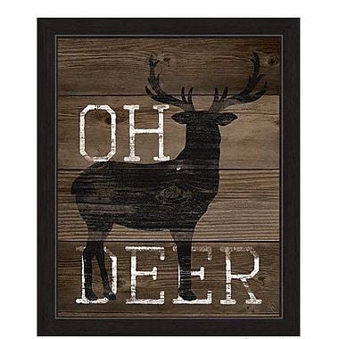 Loon Peak 'Oh Deer' Framed Graphic Art; 23'' H x 19'' W x 1'' D