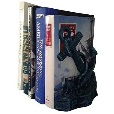 Longshore Tides Violette Book Ends (Set of 2); Seaworn Blue
