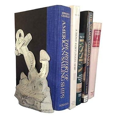 Longshore Tides Violette Book Ends (Set of 2); Whitewashed
