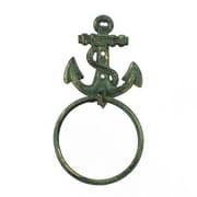 Longshore Tides Cast Iron Anchor Towel Holder; Antique Bronze