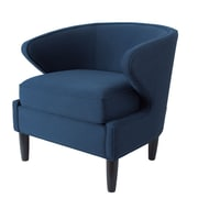 Latitude Run Altizer Barrel Chair; Midnight Blue