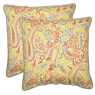 Latitude Run Demmer Decorative 100pct Cotton Throw Pillow (Set of 2); Coral