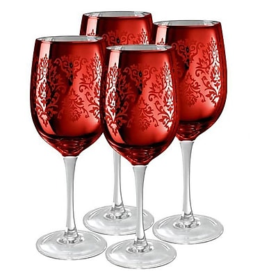 Willa Arlo Interiors Aveline Goblet (Set of 4); Red