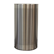 Witt Celestial Half Round 12 Gallon Trash Can; Stainless Steel